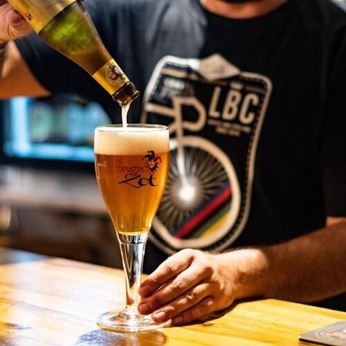 La bicicleta café à Castellon en Espagne, 30 bières originales